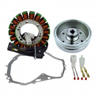 Ignition-Stator-Magneto Flywheel-Stator Cover Gasket-Suzuki-LTF400 Eiger