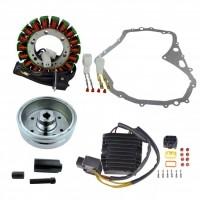 Allumage Alternateur Stator Volant Magnétique Rotor Régulateur Rectifieur Mosfet Joint Carter Suzuki LTF400 Eiger