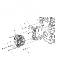 Alternator 110 A Polaris RANGER 1000 DIESEL
