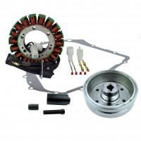 Ignition-Stator-Magneto Flywheel- Arctic Cat TBX400 375 Auto 400 Auto Suzuki LTA400 Eiger Auto