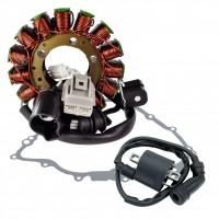 Kit Stator Crankcase Cover Gasket External Ignition Coil Yamaha 700 Rhino