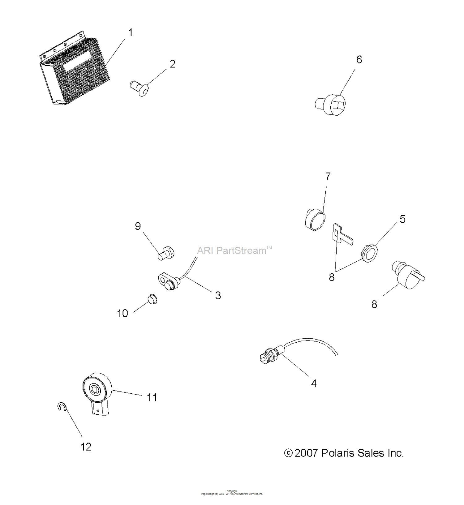 Boitier Module ECM Polaris Sportsman 500 HO 2008 Sportsman 500 6x6  Sportsman 450 2007 OEM 4011568