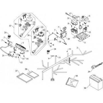 External Ignition Coil Masai A700 Dinli-DL700X Hytrack HY590 HY610 HY700 HY800