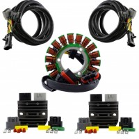 Kit Dual Output Stator + Series Regulators + Harnesses Polaris Scrambler 850 1000 Sportsman 325 450 570 850 1000