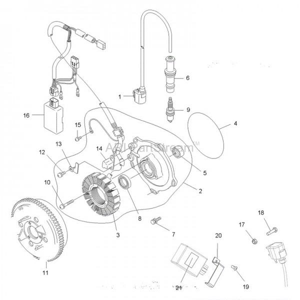 volant magn u00e9tique rotor polaris 500 scrambler 3090239