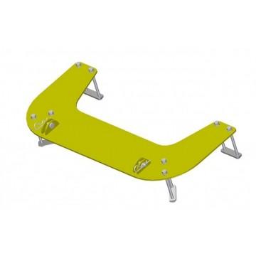 Kit de Fixation - Lame à Neige - Warn - Polaris RZR800 - 800S