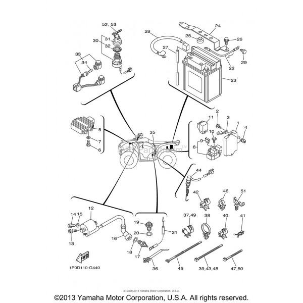 faisceau electrique yamaha 250 bear tracker 4xe