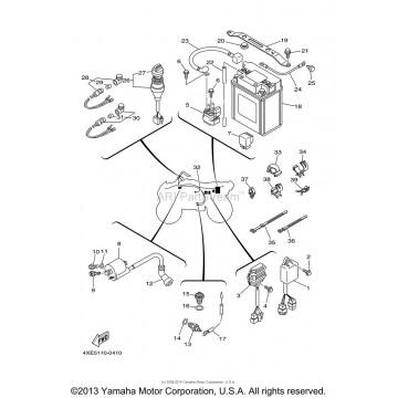 Wire Harness Yamaha 250 Bear Tracker 4xe 82590 10 00