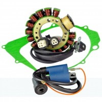 Stator-Ignition Coil-Stator Cover Gasket-Yamaha-350 Warrior