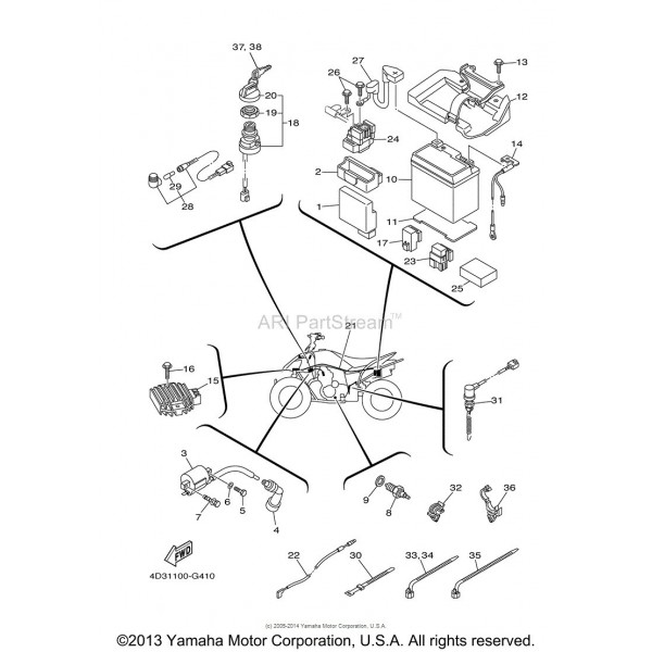 faisceau electrique yamaha 250 raptor 4d3 82590 00 00 raptor 250 wiring diagram diagram wiring diagrams for diy car yamaha virago 250 wiring diagram at edmiracle.co